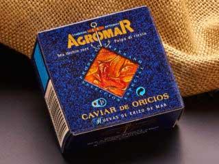 Caviar de Oricios. PRODUCTOS ASTURIANOS