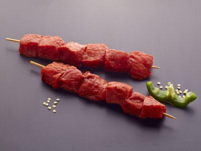 Pincho Cerdo Duroc. Carne parrilla - horno - plancha. BROCHETA