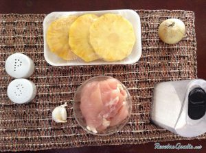 ingredientes receta pollo con piña