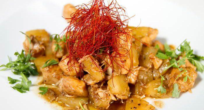 receta saludable pollo con piña